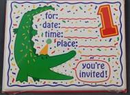INVITATIONS CROCODILE FUN YOU'RE ONE 8 CT