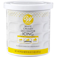 ICING CREAMY DECORATOR WHITE 16 OZ