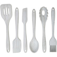 KITCHEN UTENSILS MARBLE SILICONE 6 PC