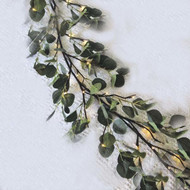 "EUCALYPTUS GARLAND LIGHTED 72"" 48 WARM LED"
