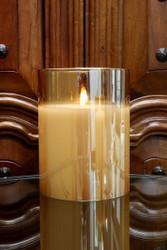 """CANDLE RADIANCE CHAMPAGNE 6 X 7.8"""""""
