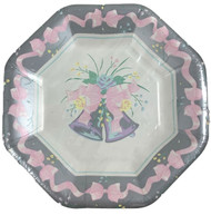 PLATES 7 WEDDING BELLS 18 CT