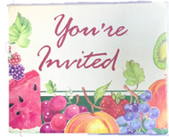 "INVITATIONS FRUIT ""You're Invited"" 8 COUNT"