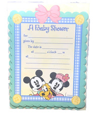 INVITATIONS BABY MICKEY 10 CT