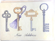 ANNOUNCEMENTS NEW ADDRESS KEYS DESIGN 8 CT