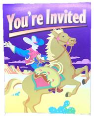 INVITATIONS  YIPPIE-YI -YEA 8 CT
