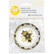BAKING CUPS METALLIC STARS 50 CT