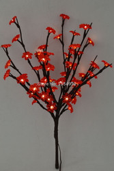 LIGHTED BRANCHES BURGUNDY PLUM 60 LIGHT