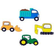 ICING DECO CONSTRUCTION VEHICLES 12 CT