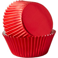 BAKING CUPS RED  FOIL 24 CT