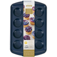 MUFFIN PAN NAVY 12 CUP COVERED HNDL