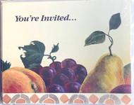 INVITATIONS FRUIT 8 CT