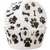 BAKING CUPS DOG PAWS AND BONES 50 CT