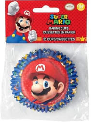 BAKING CUPS SUPER MARIO 50 CT