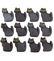 ICING DECO BLACK CATS 12 CT