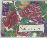 INVITATIONS FLORAL 8 CT