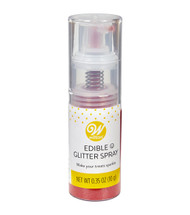 EDIBLE GLITTER SPRAY RED.35 OZ.