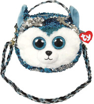 TY  CAT PURSE FLIPPABLE  BLUE