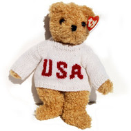 TY BABY CURLY USA BEAR