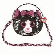 TY CAT PURSE BLACK