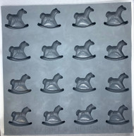RUBBER CANDY MOLDS ROCKING HORSE 16 CAVITIES