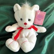 PM TENDER TAIL BEAR WHT/RED BOW