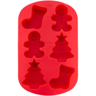 SILICONE MIOLD STOCKING, BOY, TREE 6 CAVITIES