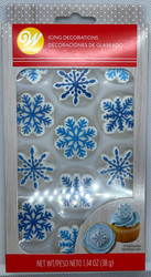 ICING DECO SNOWFLAKES ASST 12  CT