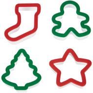 COOKIE CUTTERS GRIPPY HOLIDAY 4 PC