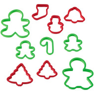 COOKIE CUTTERS BOXED GIANT HOLIDAY SET 10 CT