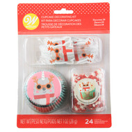 CUPCAKE DECOR KIT NARWAL 24 CT
