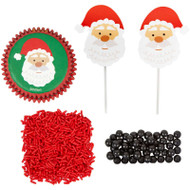 CUPCAKE DECORATING KIT SANTA