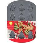 COOKIE PAN CHRISTMAS 3 SHAPES 12 CAVITIES NS