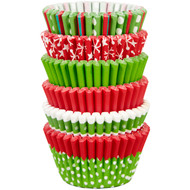 BAKING CUPS MINI HOLIDAY MIX 150 CT