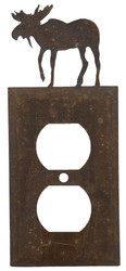 OUTLET PLATE MOOSE RUSTIC