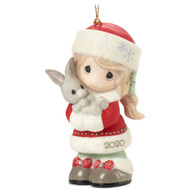 PM201002 EVERY BUNNY LOVES A CHRISTMAS HUG DATED 20 ORN