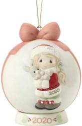 PM201003 EVERY BUNNY LOVES A CHRISTMAS HUG 2020 BALL ORN