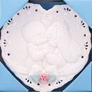 PM 256730 WEDDING MINI HEART PLATE FOREVER TRUE