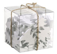 TREE CUTOUTS WOODEN ASSORTED BOX WH