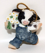 MM297437 COW MINI ORNAMENT SPRING IS IN THE AIR