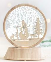 SHIMMER LIGHT SNOWMAN 5.25 IN.