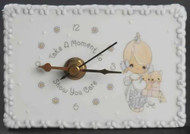 PRECIOUS MOMENTS MINI DESK CLOCK GIRL/KITTENS