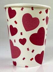 CUPS HOT/COLD MULTI HEART 8 COUNT