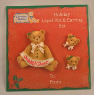CT141860 HOLIDAY PIN & EARRINGS SET