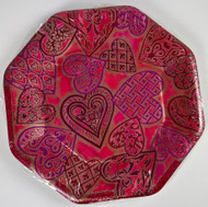 PLATES 10 HEARTS OF GOLD 8 CT