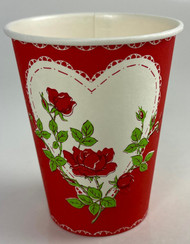 CUP HEART W/ ROSE