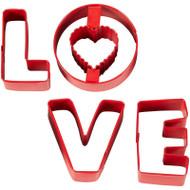 COOKIE CUTTERS LOVE 4 PC