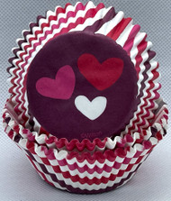BAKING CUPS HEARTS 75 CT