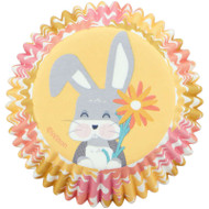 BAKING CUPS BUNNY FLOWER 75 CT