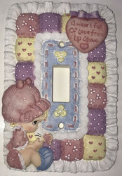 PM SWITCHPLATE COVER A HEART OF LOVE
